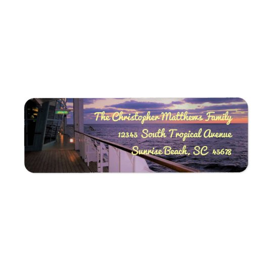 Morning on Deck Personalised Return Address Label