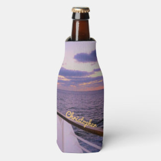 Morning on Deck Personalized Bottle Cooler