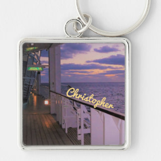 Morning on Deck Personalized Key Ring
