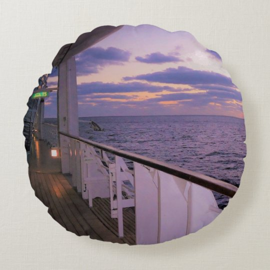 Morning on Deck Round Cushion