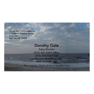 Morning on the Beach - Oak Island NC Double-Sided Standard Business Cards (Pack Of 100)