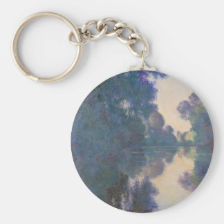 Morning on the Seine near Giverny - Claude Monet.j Key Ring