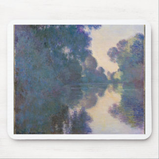 Morning on the Seine near Giverny - Claude Monet.j Mouse Pad