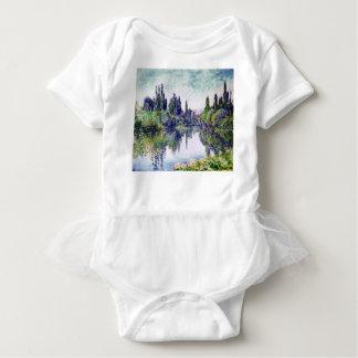 Morning on the Seine, near Vetheuil - Claude Monet Baby Bodysuit