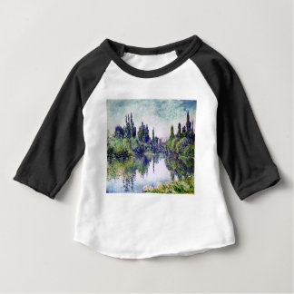 Morning on the Seine, near Vetheuil - Claude Monet Baby T-Shirt