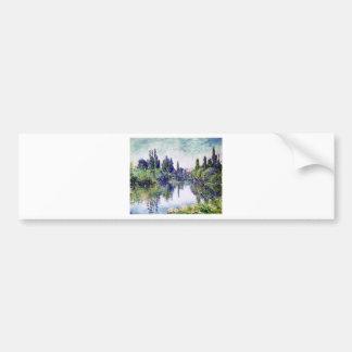 Morning on the Seine, near Vetheuil - Claude Monet Bumper Sticker