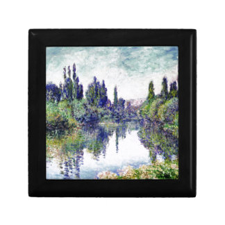 Morning on the Seine, near Vetheuil - Claude Monet Small Square Gift Box