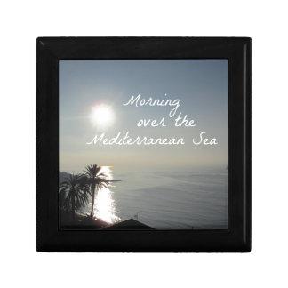 Morning over the Mediterranean Sea Small Square Gift Box