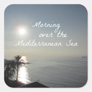 Morning over the Mediterranean Sea Square Sticker