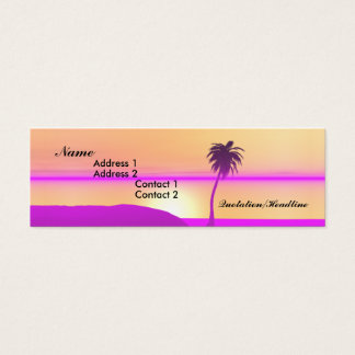 Morning Palm - Skinny Mini Business Card