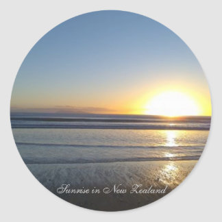 Morning Paradise at New Zealand  - Round Sticker