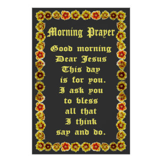 Morning Prayer in a Prickly Pear Cactus Frame Poster