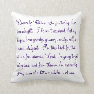 morning prayer pillow