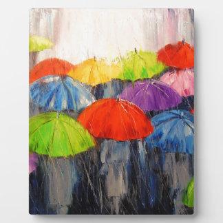 Morning rain plaque