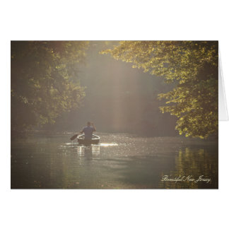 Morning Ride - Musconetcong River, New Jersey Card