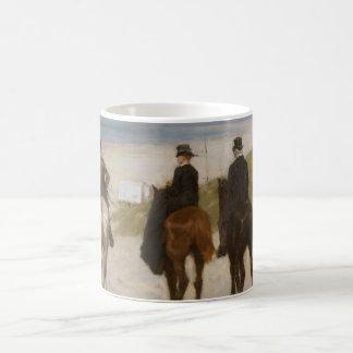 Morning Ride on the Beach - Anton Mauve Coffee Mug