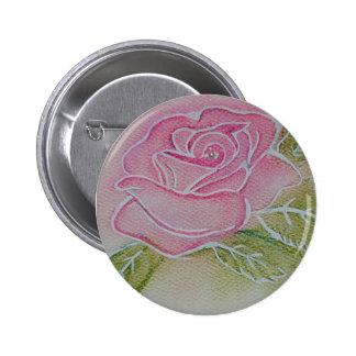 Morning Rose Pinback Buttons
