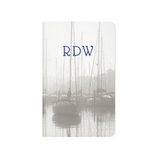 Morning Sailboats in the Mist Monogram for Him Journal
