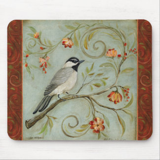 Morning Song Chickadee by Kate McRostie Mouse Pad