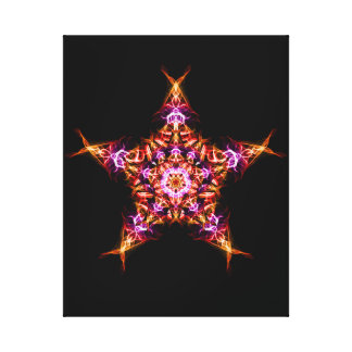 Morning Star Dawn Bringer Energy Mandala Canvas Print