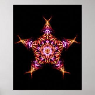 Morning Star Dawn Bringer Energy Mandala Poster