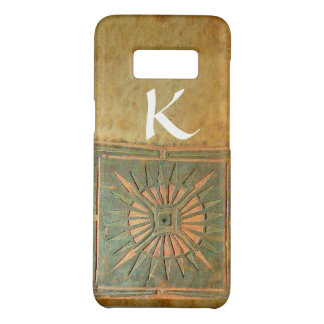 MORNING STAR ,Yellow,Brown,White Monogram Case-Mate Samsung Galaxy S8 Case