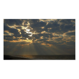 Morning Sun and Ocean - Oak Island, NC Pack Of Standard Business Cards
