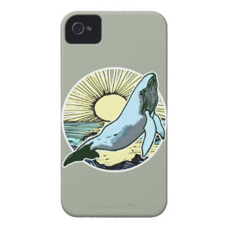 Morning sun whale 2 iPhone 4 Case-Mate cases
