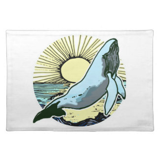 Morning sun whale 2 placemat