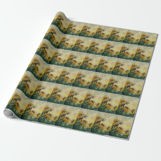 Morning Sunflowers Floral painting Wrapping Paper