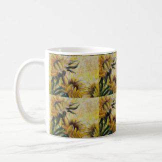 Morning sunflowers painting coffee mug