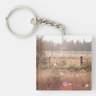 Morning Sunlight; 2013 Calendar Single-Sided Square Acrylic Key Ring