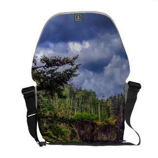 morning sunrise Olympic peninsula Cape Flattery Courier Bags