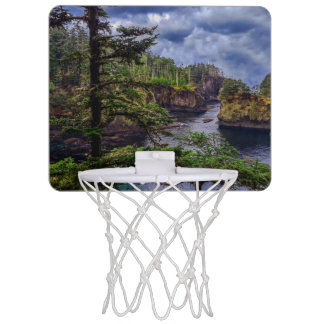 morning sunrise olympic peninsula Cape Flattery Mini Basketball Hoop