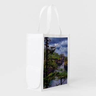 morning sunrise olympic peninsula Cape Flattery Reusable Grocery Bag