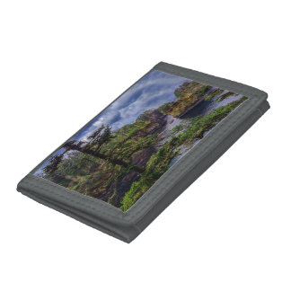 morning sunrise Olympic peninsula Cape Flattery Tri-fold Wallet
