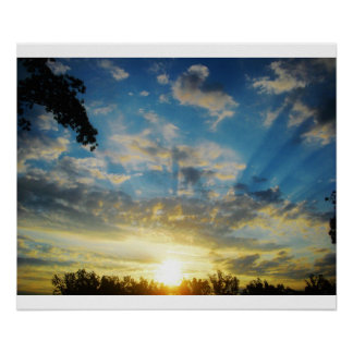 morning sunrise poster