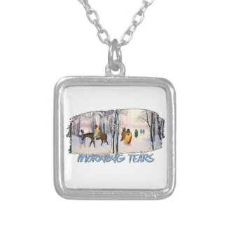 Morning Tears Silver Plated Necklace