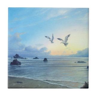 Morning Tides Beach Theme Kitchen Tiles