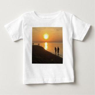 Morning walk on the beach baby T-Shirt