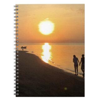 Morning walk on the beach notebook