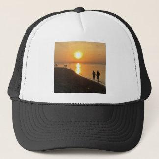 Morning walk on the beach trucker hat