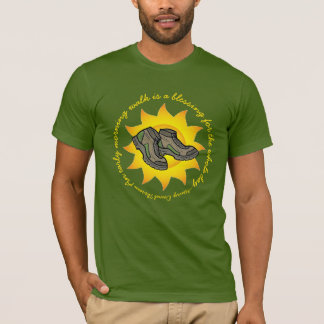 Morning Walk Thoreau Quote Hiking Boots Wellness T-Shirt