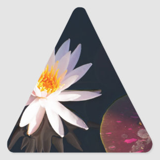 Morning Water Lily Triangle Sticker