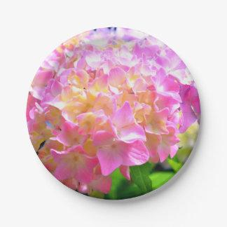 Morning whisper Hydrangeas Paper Plate
