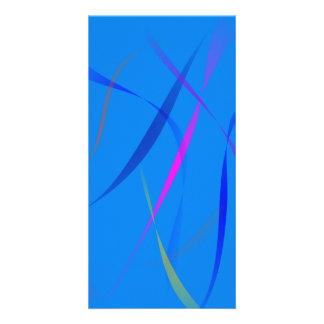 Morning Wind Cerulean Blue Personalized Photo Card