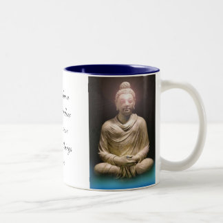 Morning Wisdom Buddha Two-Tone Coffee Mug