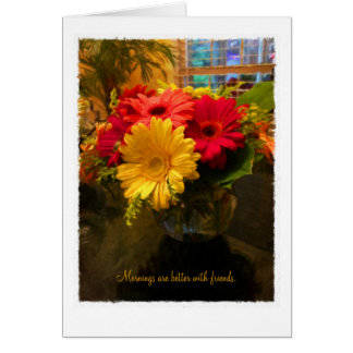 Morning with Friends Greeting Card