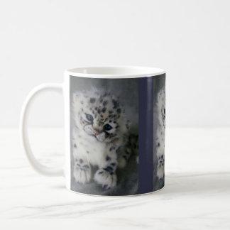 Morning with Snow Leopard Kit Coffee Mug