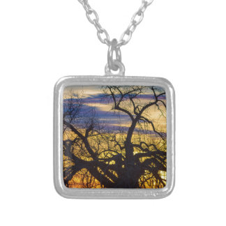 Morning Woods Silver Plated Necklace